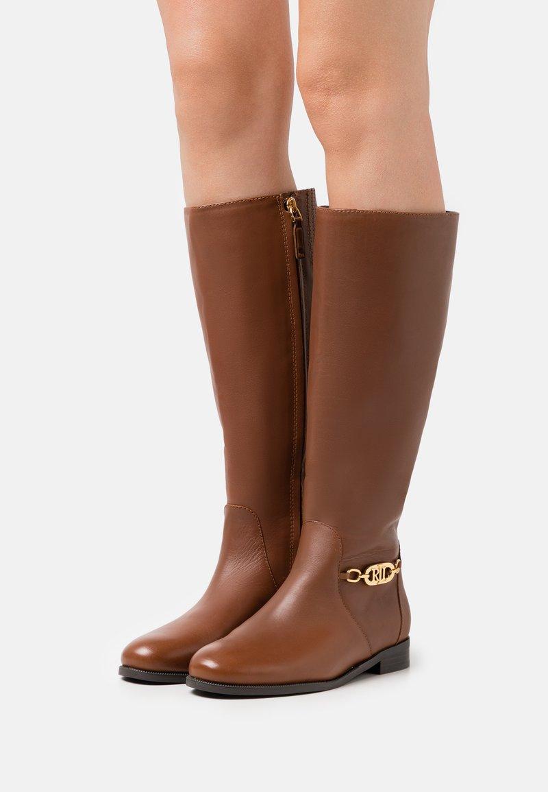 Lauren Ralph Lauren - BRADLEIGH TALL BOOT - Boots - deep saddle tan