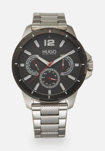 SPORT - Chronograph watch - silver-coloured/black