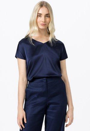Print T-shirt - tintenblau