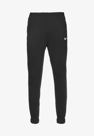 PARK 20  - Tracksuit bottoms - black / white