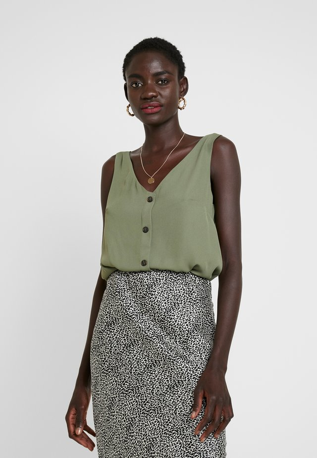 BUTTON THROUGH CAMI - Pusero - khaki