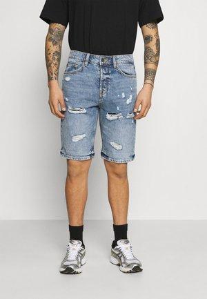 ONSAVI LIFE LOOSE DAMAGE - Shorts - blue denim