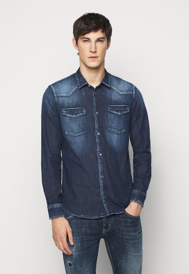 CAMICIA WESTERN BASIC - Shirt - blue denim