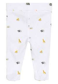 Next - WHITE GOTS ORGANIC THREE PIECE LEGGINGS, T-SHIRT AND HAT SET (0- - Hat - white - 4
