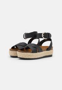 ONLY SHOES - ONLMAUVE WRAP  - Korkeakorkoiset sandaalit - black - 2