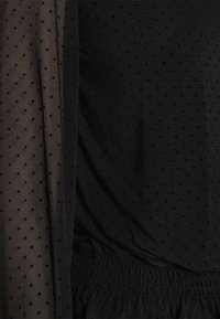 Dorothy Perkins - DOBBY SHIRRED - Long sleeved top - black - 5