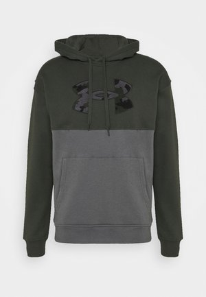 RIVAL COLORBLOCK - Sweat à capuche - baroque green