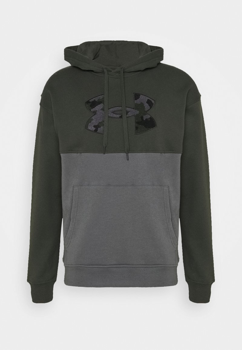Under Armour - RIVAL COLORBLOCK - Sweat à capuche - baroque green