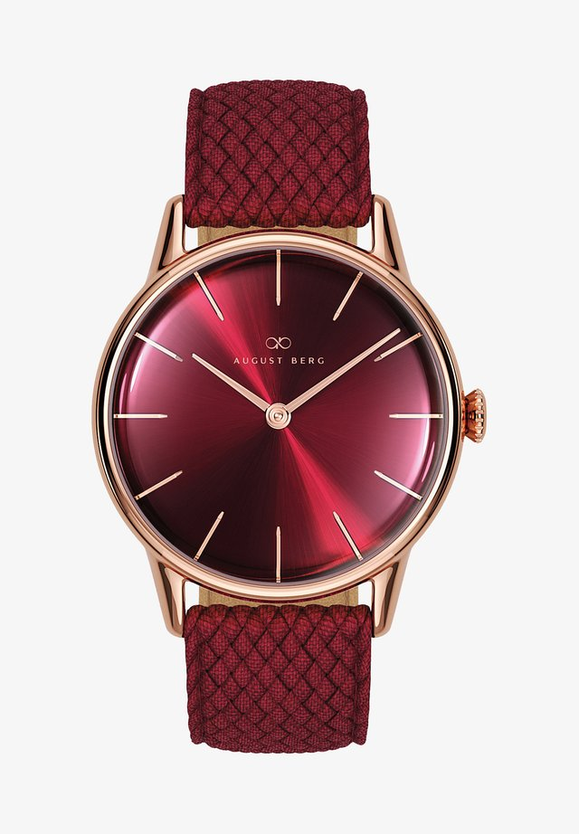 UHR SERENITY BURGUNDY BURGUNDY PERLON 32MM - Horloge - sunray red