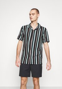 Common Kollectiv - UNISEX STRIPED SHORT SLEEVE BOWL - Shirt - black - 0