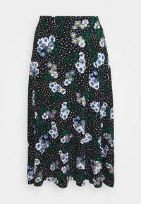 Marks & Spencer London - FLORAL SKATER - Áčková sukně - black - 0