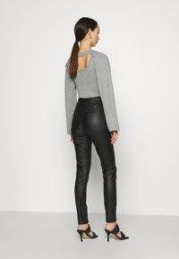 Missguided - COATED CORSET DETAIL - Kalhoty - black - 2