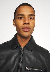 AllSaints - CLAY JACKET - Leather jacket - black - 4