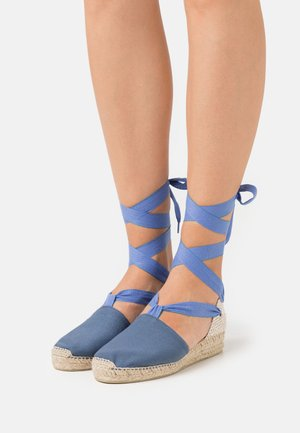 DOUBLE LACES - Espadrilky - denim