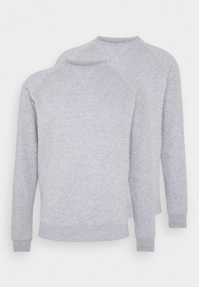 2 PACK - Sweatshirt - mid grey melange