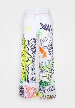 WIDE LEG GRAFFITI PRINT - Tracksuit bottoms - multi