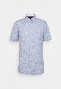 SOFT MINI FLORAL PRINT - Košile - pebble blue
