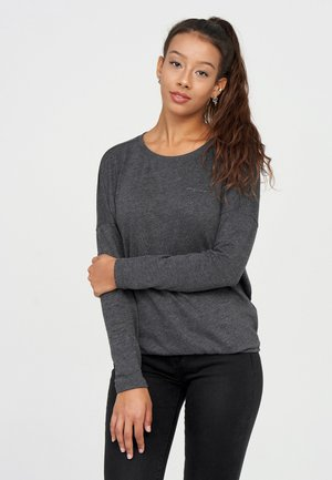 Long sleeved top - black mel.
