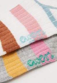 Ewers - KIDS SOCKS STRIPES 2 PACK - Socks - latte/silber melange - 1