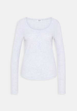 WINNIE WAFFLE SCOOP HENLEY LONG SLEEVE  - Maglietta a manica lunga - silver marle