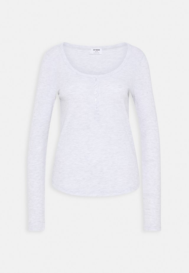 WINNIE WAFFLE SCOOP HENLEY LONG SLEEVE  - T-shirt à manches longues - silver marle