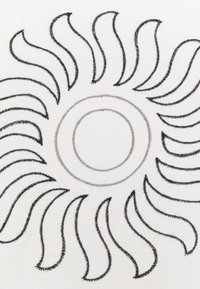Burton - CARATUNK RAGLAN - Bluzka z długim rękawem - stowe white/true black - 2