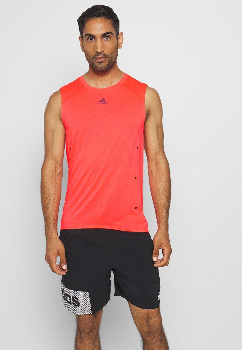 adidas Performance - ADIZERO HEAT.RDY SPORTS RUNNING SINGLET TANK - T-shirt sportiva - sigpnk