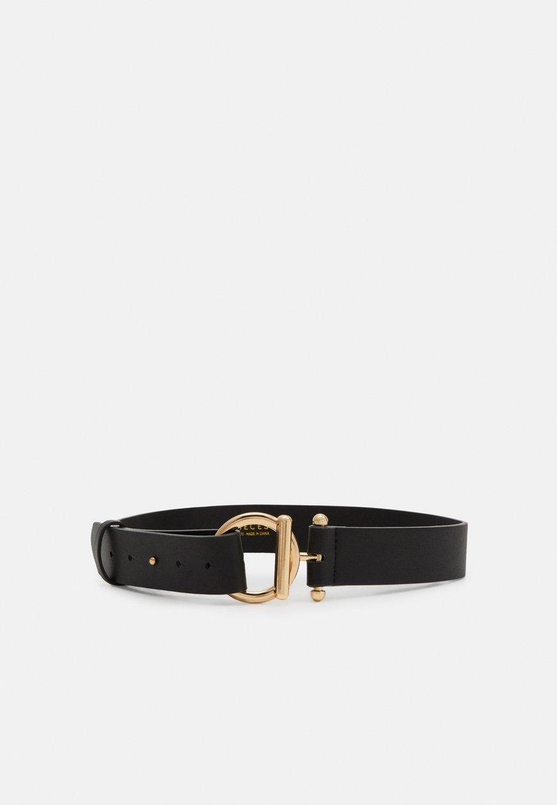 Pieces - PCBINNA WAIST BELT - Waist belt - black/gold-coloured