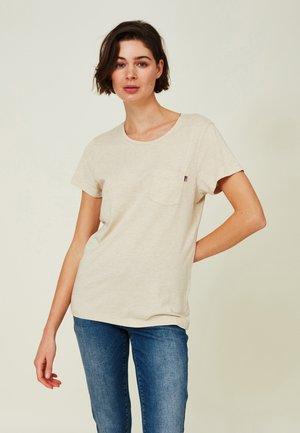 ASHLEY  - T-shirt basic - light beige melange