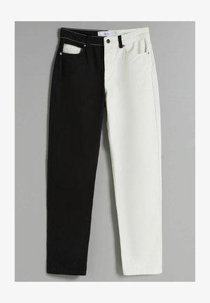 ZWEIFARBIGE IM - Straight leg jeans - black