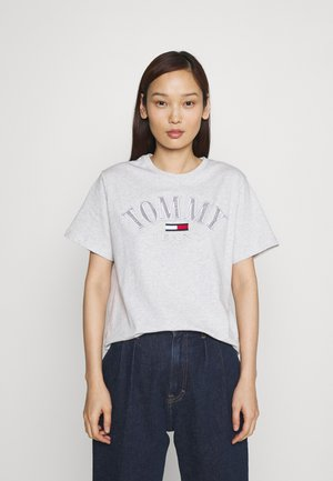 COLLEGE LOGO TEE - T-shirt med print - silver grey
