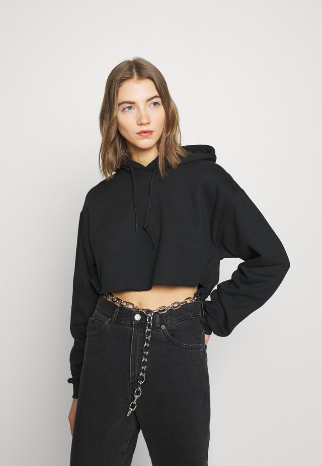 BLACK HOODIE WITH CHAINBELT - Sweat à capuche - black