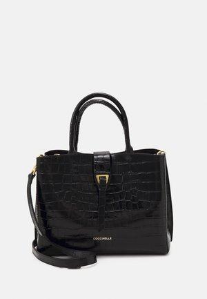 ALBA CROCO SHINY SOFT TOP HANDLE - Handbag - noir