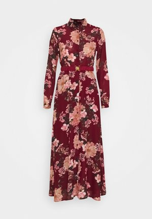 VMSUNILLA BELT ANCLE DRESS - Robe longue - cabernet/sunilla