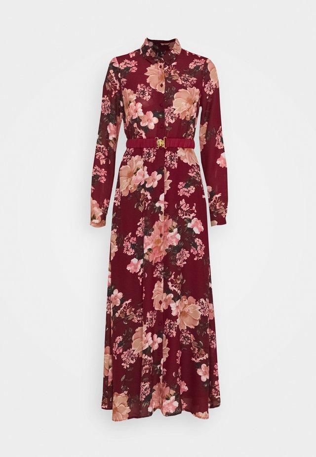 VMSUNILLA BELT ANCLE DRESS - Maxi dress - cabernet/sunilla