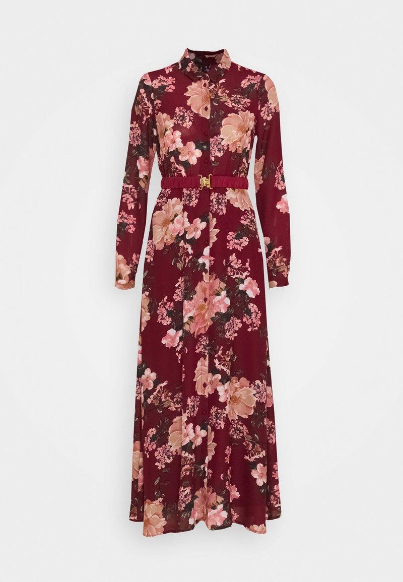 Vero Moda - VMSUNILLA BELT ANCLE DRESS - Vestito lungo - cabernet/sunilla