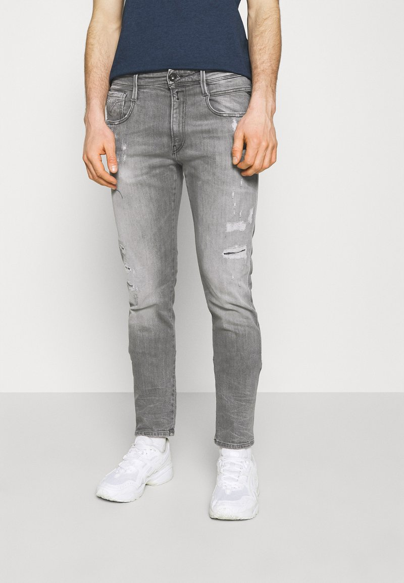 Replay - ANBASS AGED ECO - Slim fit jeans - medium grey
