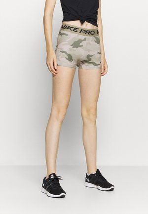 SHORT CAMO - Tights - beige/light green