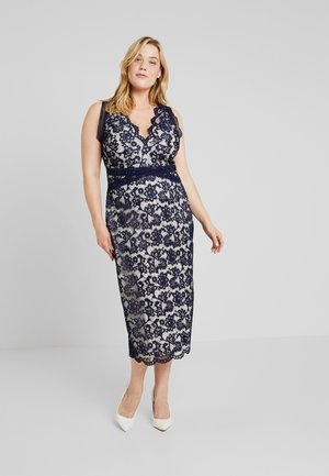 ARUSHI MIDI DRESS - Occasion wear - navy/nude