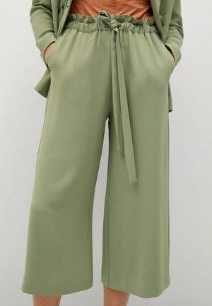 LUNI-A - Spodnie materiałowe - verde menta