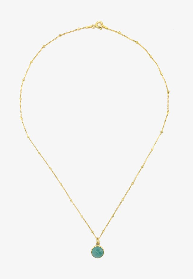 Necklace - gold blau