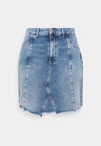 Even&Odd Curvy - Minifalda - light blue denim - 0