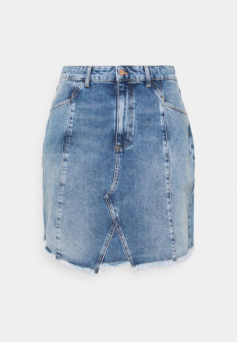 Even&Odd Curvy - Minifalda - light blue denim