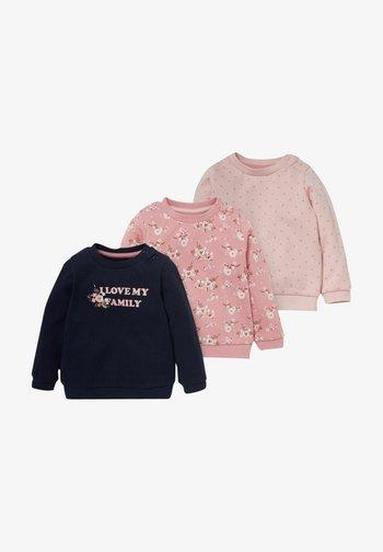 3 PACK - Sweatshirt - rose / dark blue