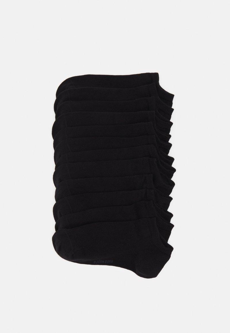 Björn Borg - SOCK STEP SOLID 12 PACK - Ponožky - black
