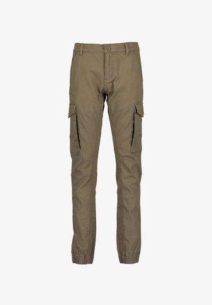 DENIM GOODS - Pantaloni cargo - olive