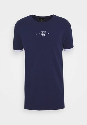 INSET CUFF GYM TEE - Basic T-shirt - navy