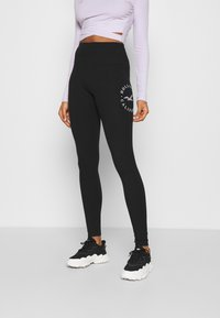 Hollister Co. - TIMELESS GRAPHIC LEGGINGS - Legíny - black seagull - 0