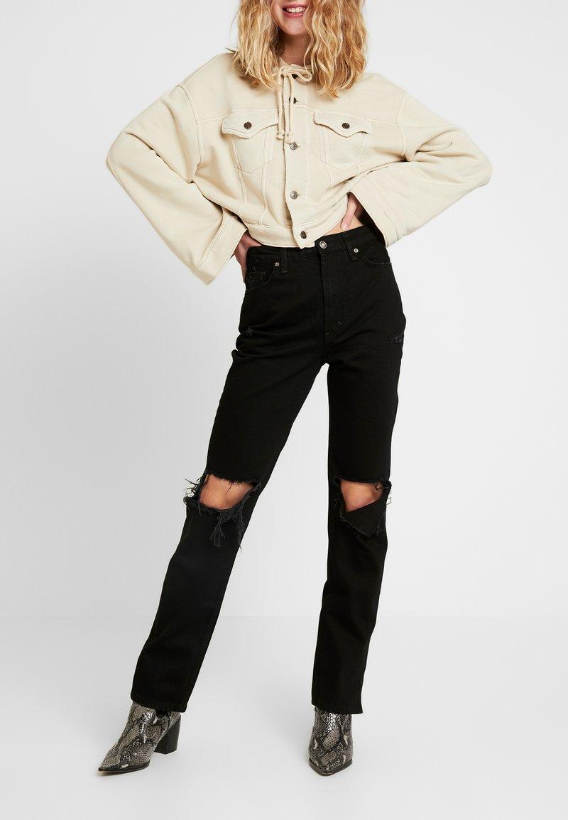 Free People - MY OWN LANE - Jeans straight leg - black