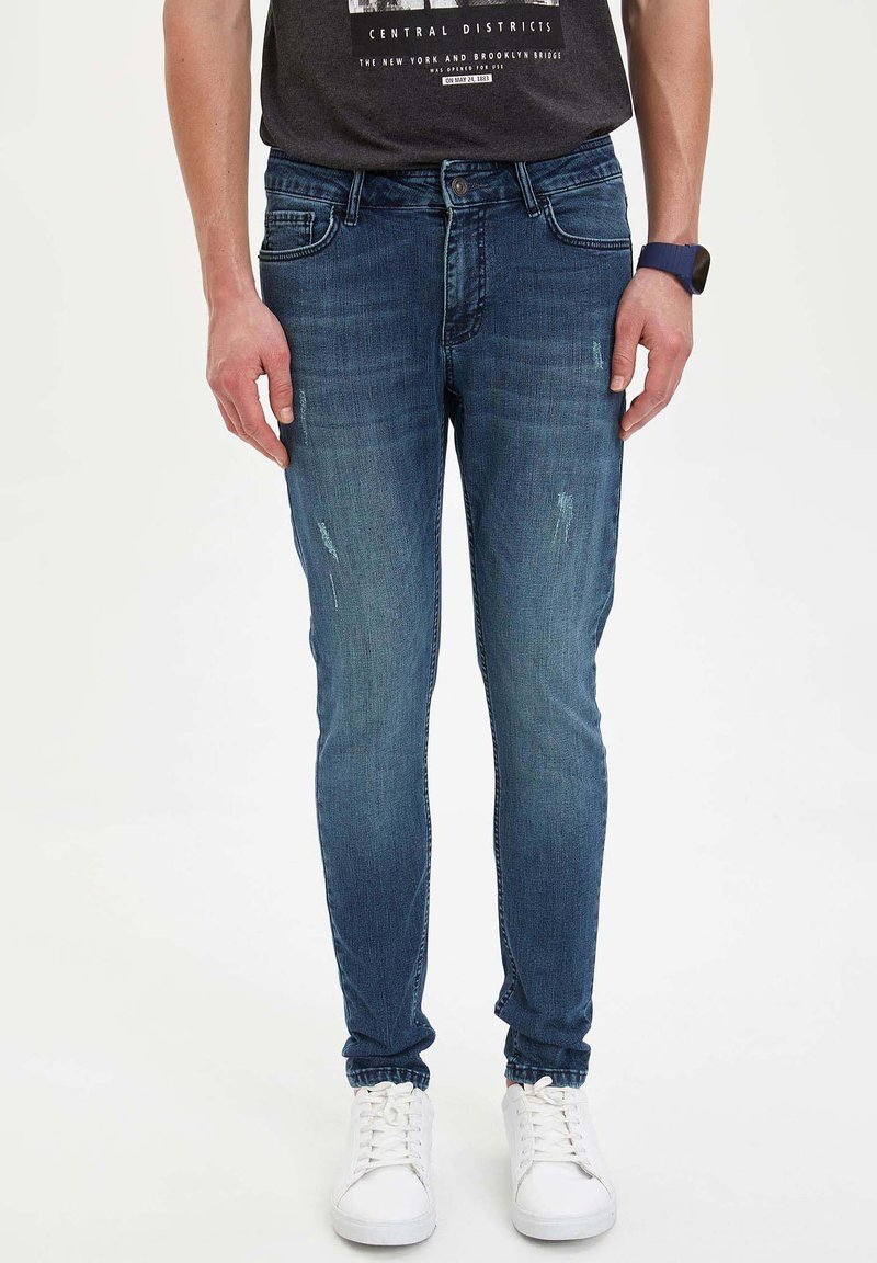 DeFacto - Jeans Slim Fit - green